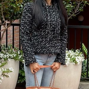 Chanel Iconic Fantasy Tweed Jacket Fringe Hem